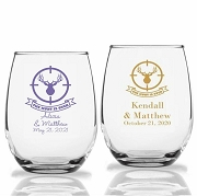 The Hunt Is Overs Stemless Wine Glass (9 oz or 15 oz)